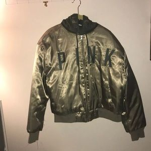 Rare vs PINK exclusive bomber coat